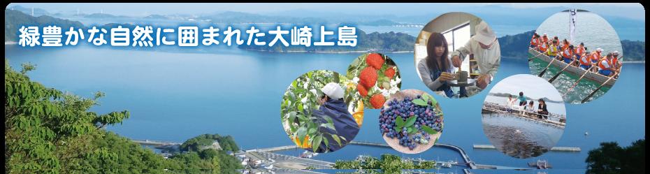 緑豊かな自然に囲まれた大崎上島